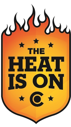 Heat is On Logo 2013 detail image