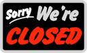 'We Are Closed' sign to use on days the CDOT offices will be closed. thumbnail image