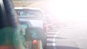 Eastbound Traffic - sun glare
