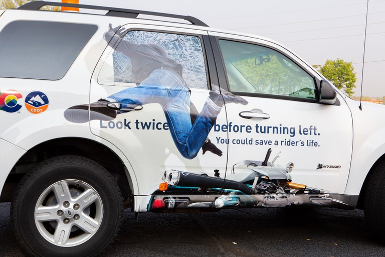 Vehicle with graphic
