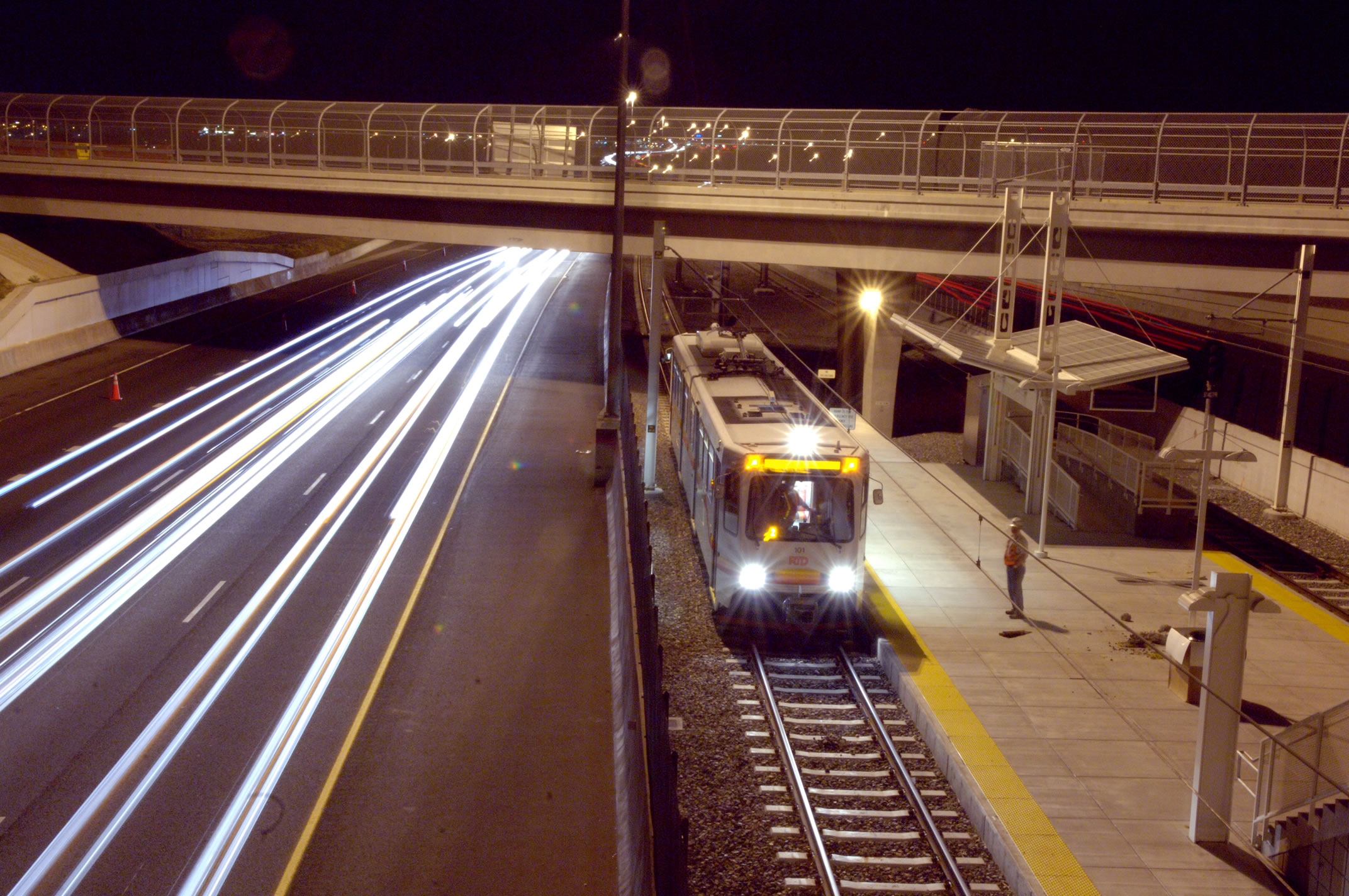 Light Rail along I-25