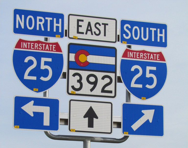 I-25 and State Highway 392 Sign