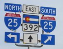 I-25 and State Highway 392 Sign thumbnail image