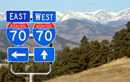 I-70 Signs & Mountains