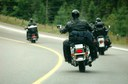 Motorcycles on highway thumbnail image