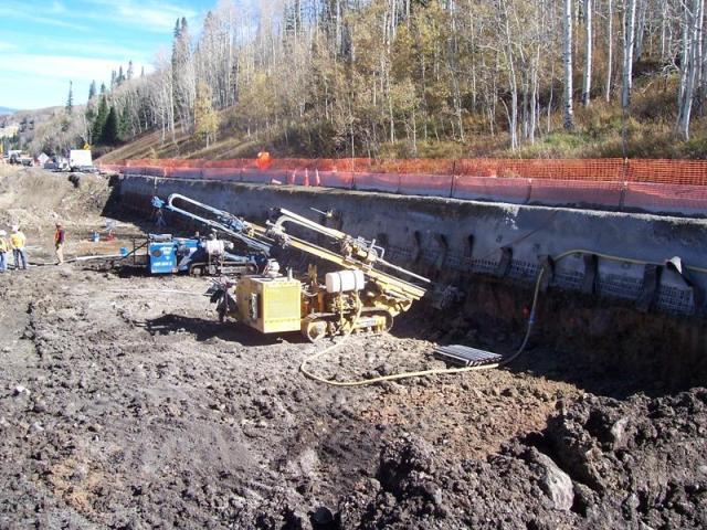 SH-65 Grand Mesa Soil Nail Installation