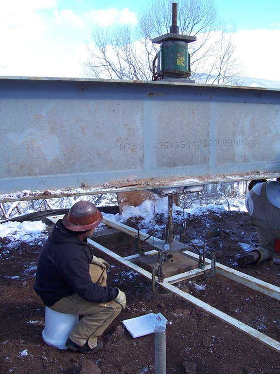 Load test on Maroon Creek bridge foundation, SH-82.