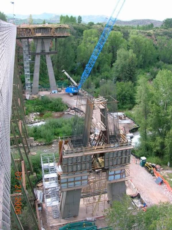 Foundations for the Maroon Creek Bridge on CO 82