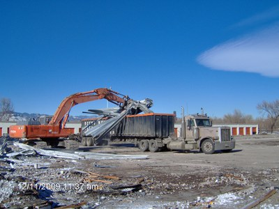 Photo of demolition at 44th Ave and I-70 interchange