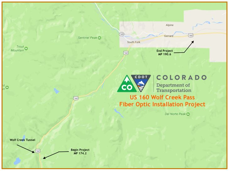 US Wolf Creek Pass Fiber Optic Installation - Us fiber optic map