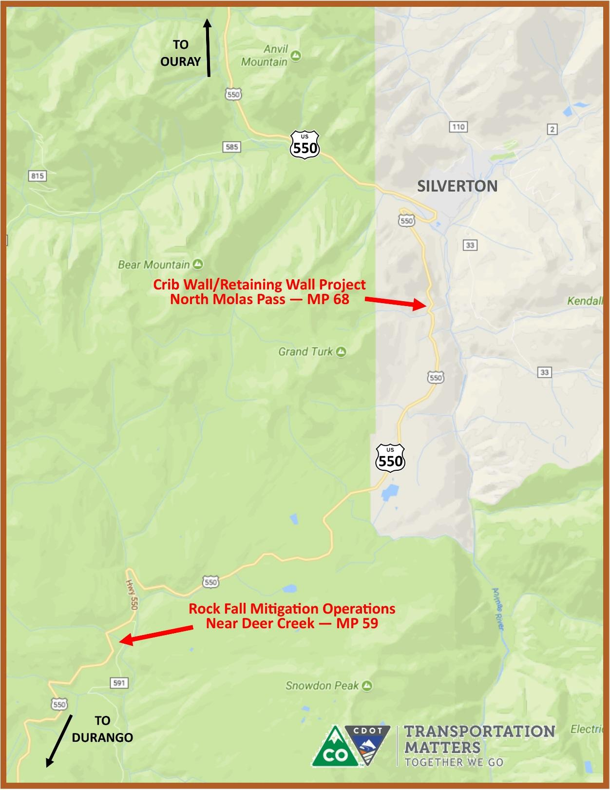 rock scaling operation set for us 550 north of durango