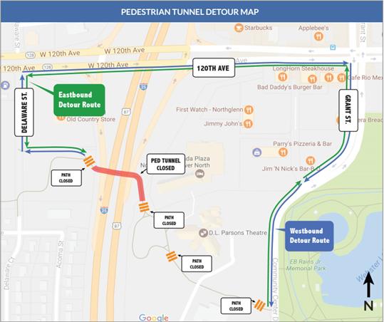 Thornton Pedestrian Tunnel Closure