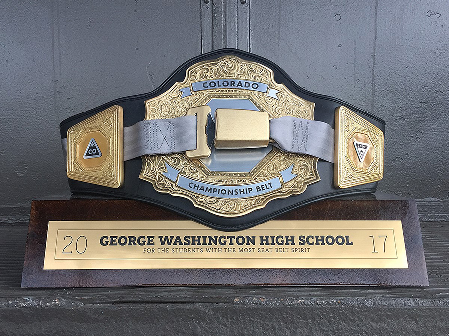 cdot awards championship belt to george washington high school