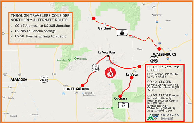 Find Wildfire Related Road Closures This Holiday