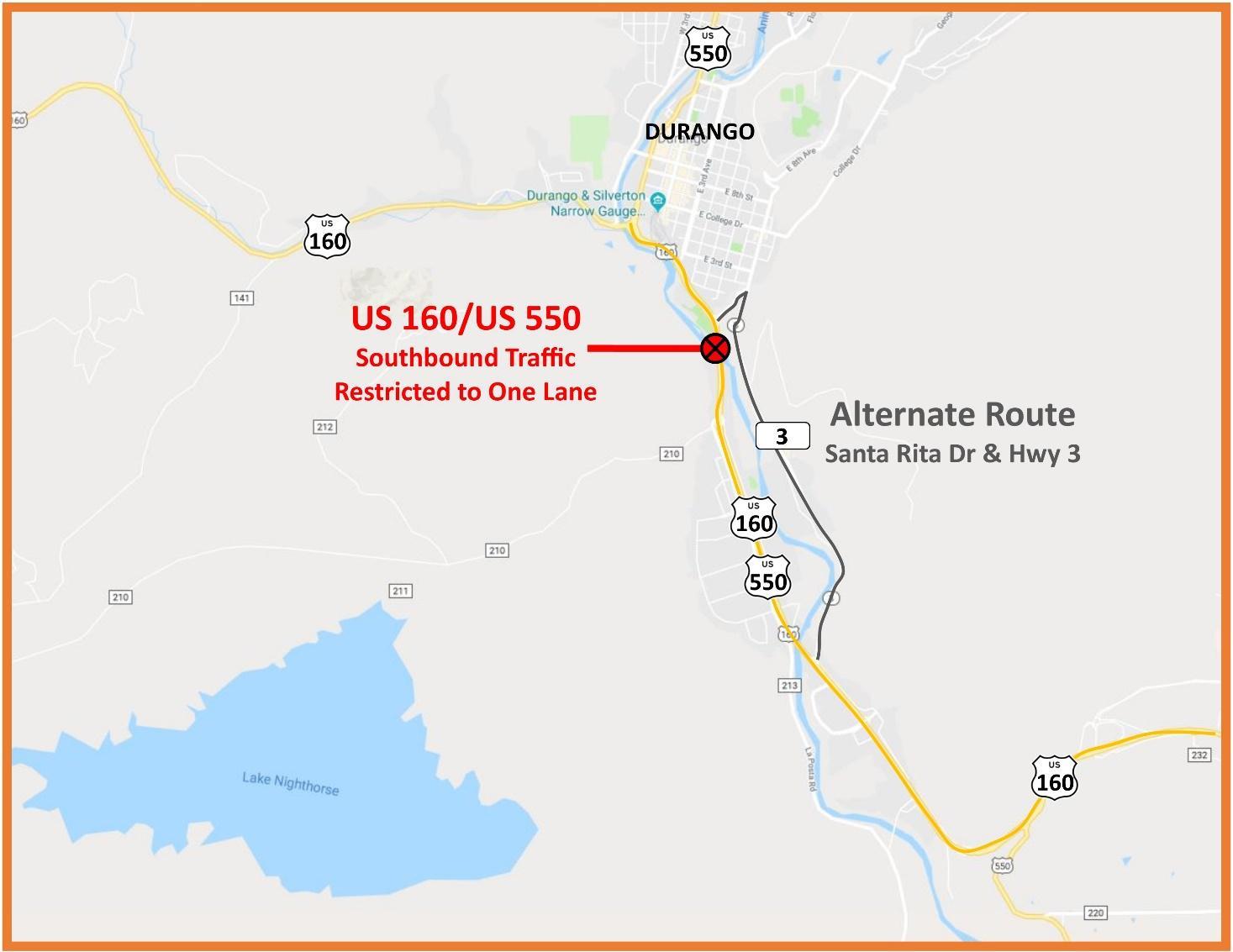 US 550 - CO 3 Sewage Closure
