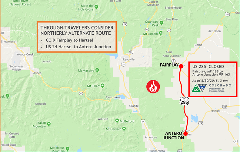 Find Wildfire-Related Road Closures this Holiday —