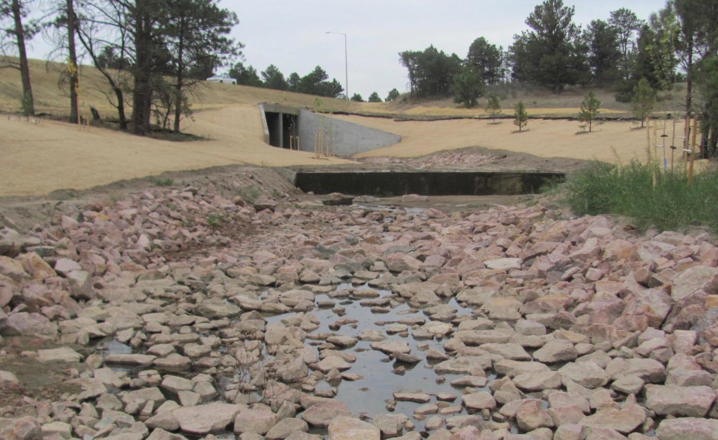 Monument Creek Branch under I-25 Work Complete
