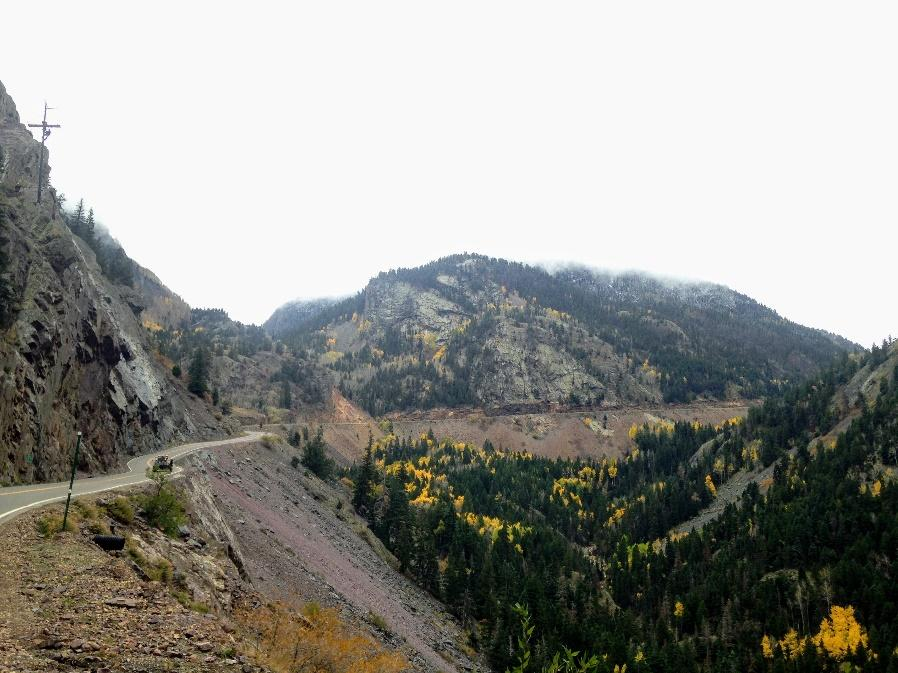 Snow Delays Cliff Work on US 550 Red Mountain Pass