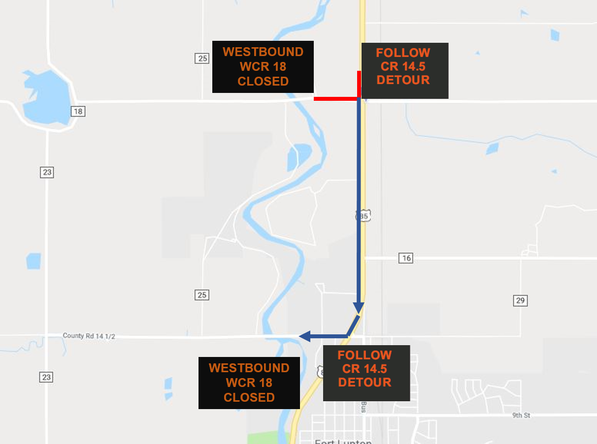 US 85 and Weld County Road 18 intersection improvements project
