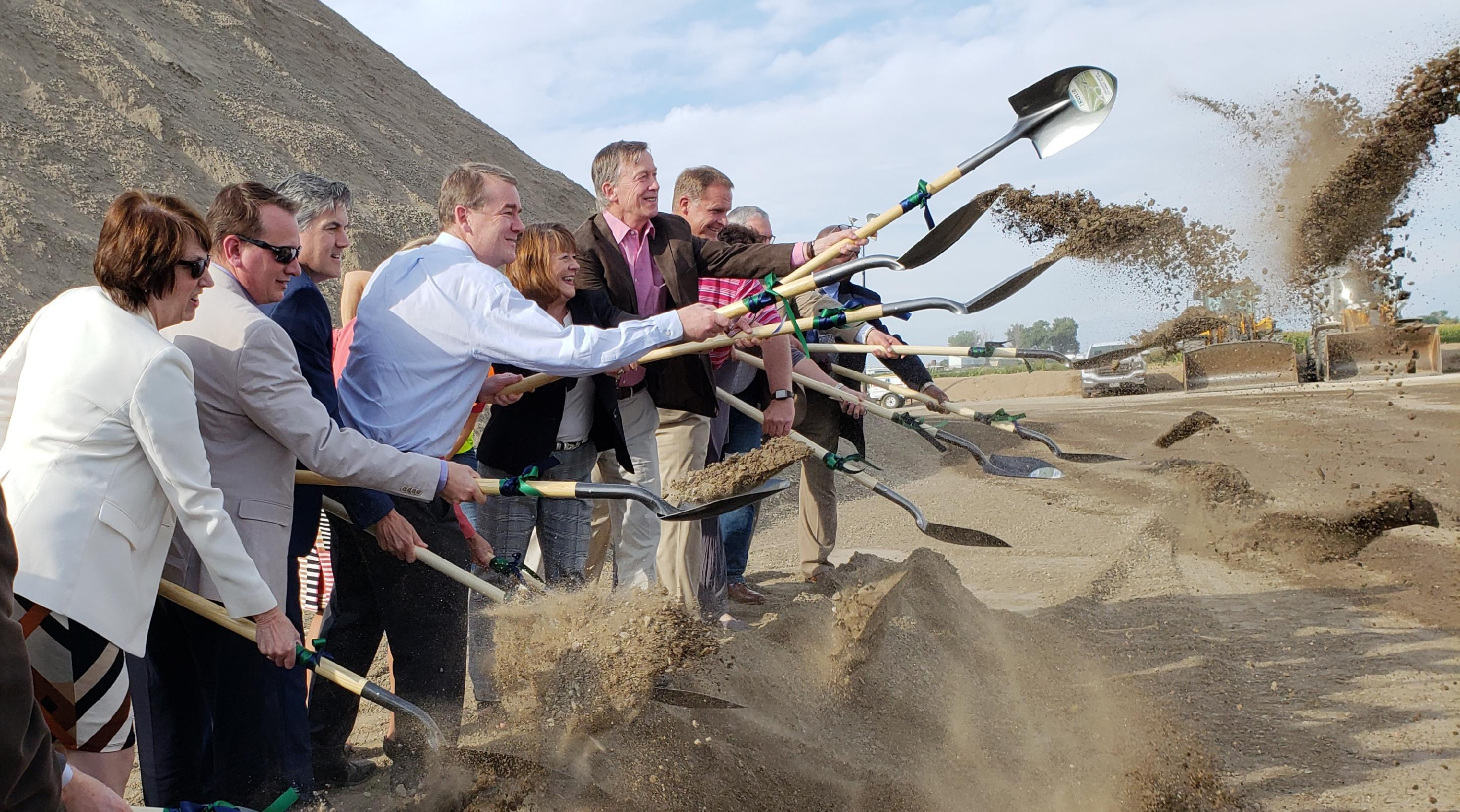 Gov. John Hickenlooper broke ground on the I-25 North Express Lanes project Monday. He was joined with Sen. Michael Bennet and many local, state and federal officials who helped make this project a reality.