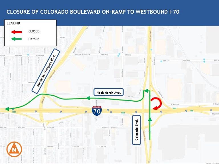 Colorado to WB I-70 Map