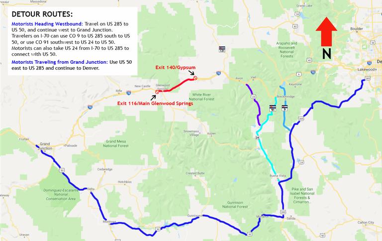 I-70 Detour Southern Route