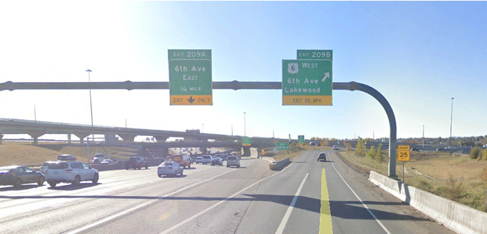 I-25 & US 6 Sign Placement