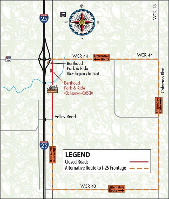I-25 North Express Lanes Map