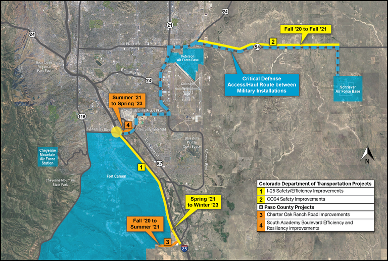 I-25 and CO 94 Safety Improvements Map