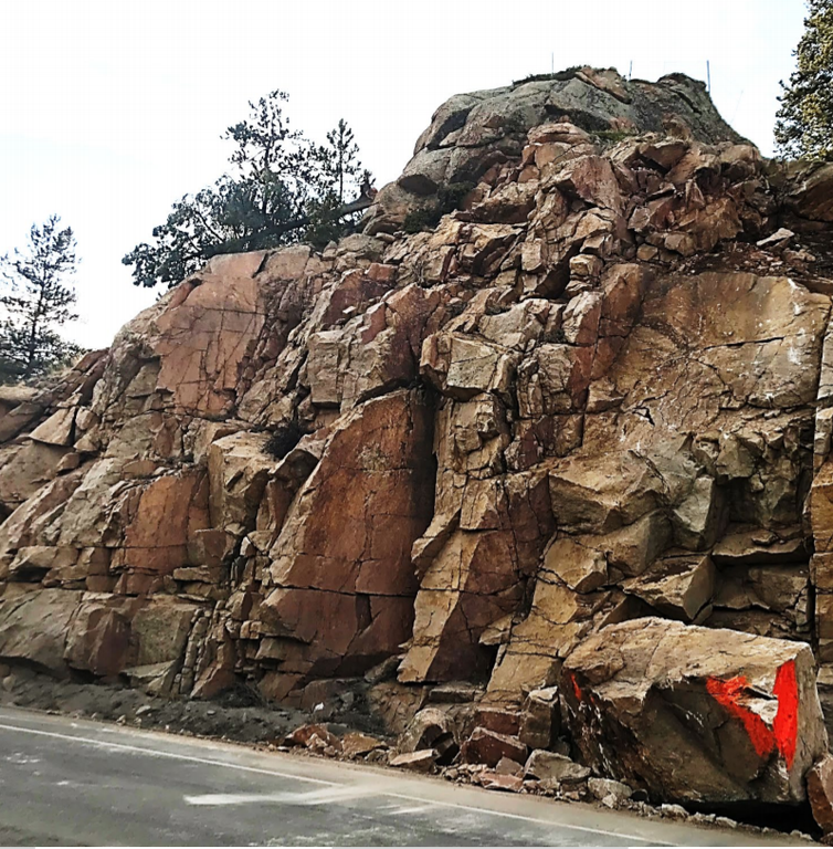 US 285 Rock Scaling Operations