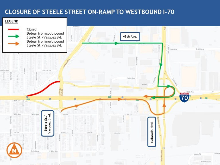 I-70-steele-detour map