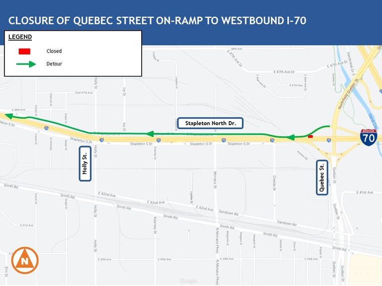 Quebec closure map