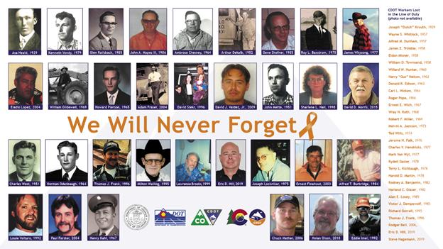 Images of CDOT's fallen workers