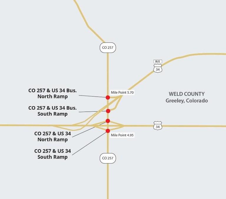 CO 257 Signalization project map