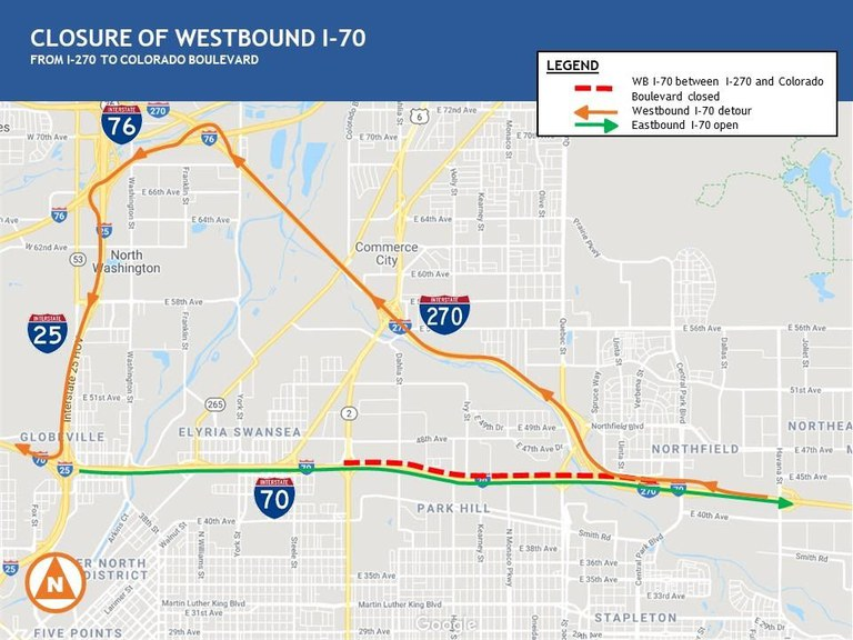 I-70 WB Map