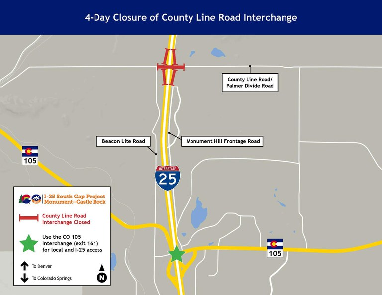 County Line Closure Map