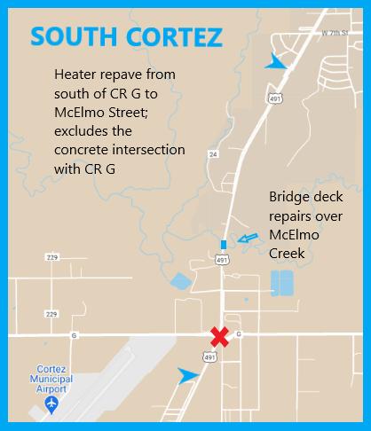 US 160 S. Cortez Map