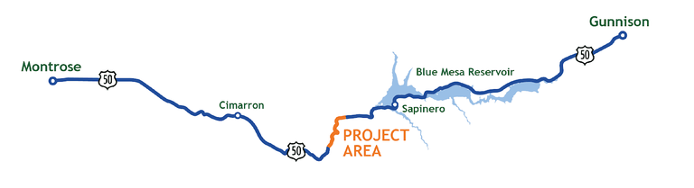 US 50 Project Map