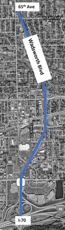 CO 121 Resurfacing Project Map