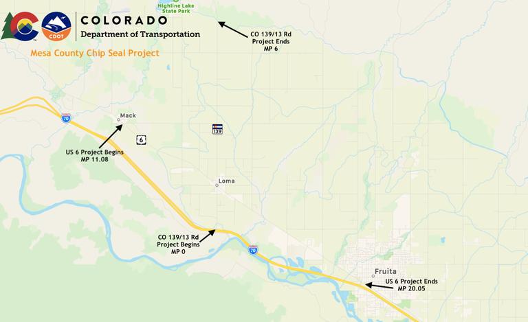 Mesa Co. Chip Seal Map 3