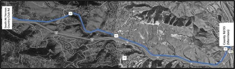 US 40 Resurfacing Project Map