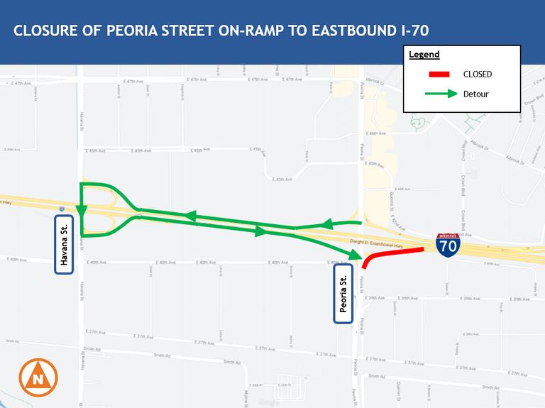 Peoria Exit Map