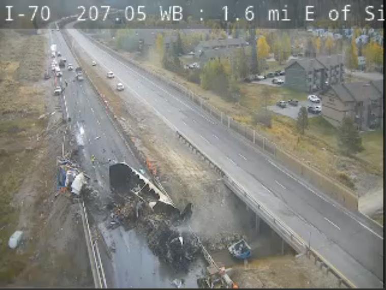 Tractor trailer crash on I-70