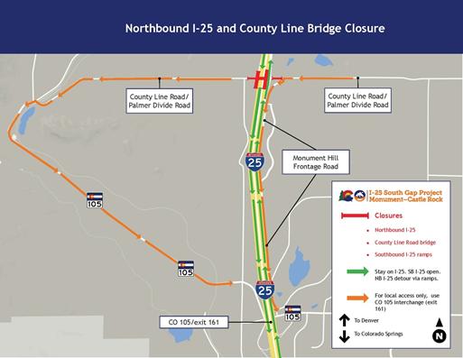 County Line Bridge Detour