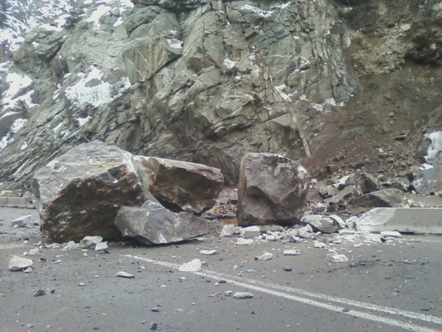 I-70 Glenwood Canyon Rock Slide —
