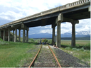 The Union Pacific Rail Road Bridge on US 24, approximately five miles north of Leadville. thumbnail image