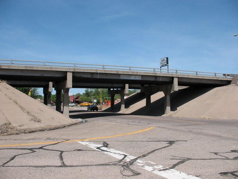 I-25 Northbound over Indiana Avenue