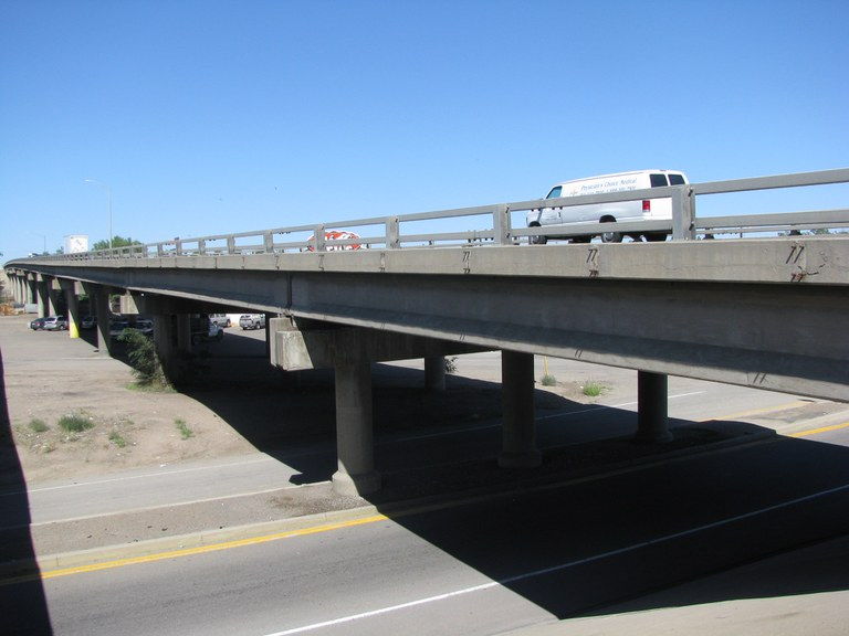 I-25 Northbound over NP Railroad, IIex Street, and Bennet Street