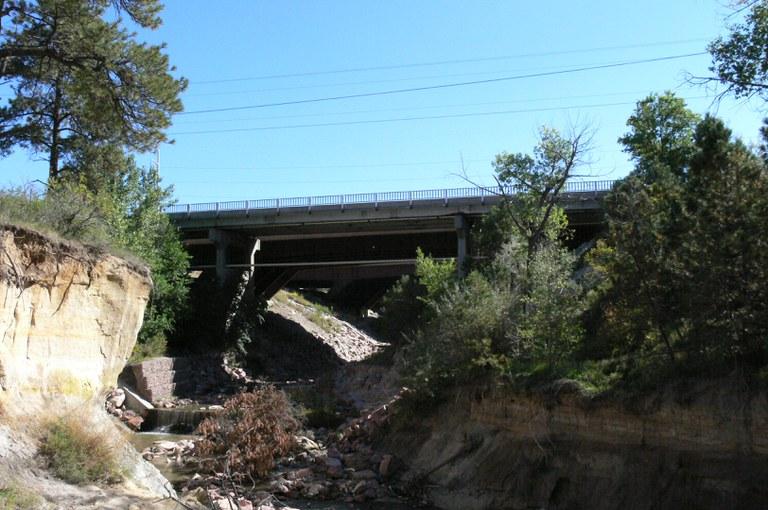 I-25 Service Road over Pine Creek