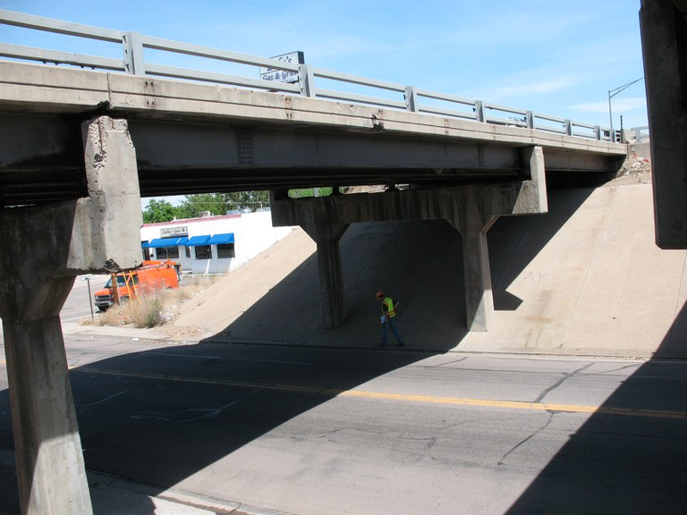 I-25 Southbound over Indiana Avenue